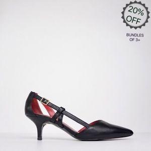Charles Jourdan | Black Leather Heels | 7.5